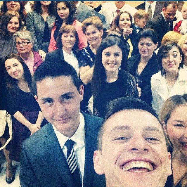 Congregation selfie in Corinth, Greece