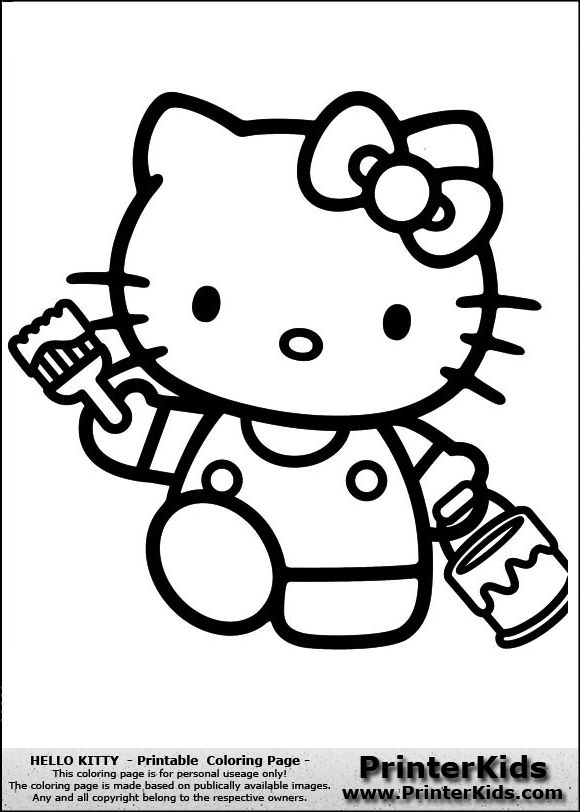 25 Best Ideas About Hello Kitty Colouring Pages On