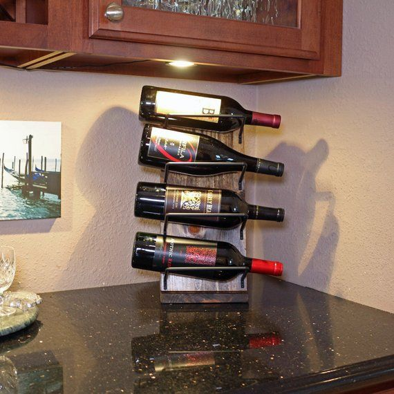 Rustic Countertop Wine Rack Tabletop Wine Rack Display Free