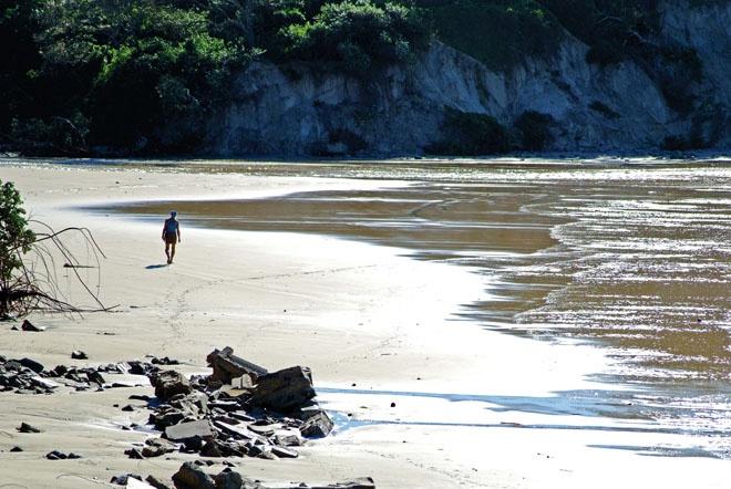 Spent days on the beach sand
