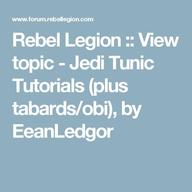 Rebel Legion :: View topic - Jedi Tunic Tutorials (plus tabards/obi), by EeanLedgor