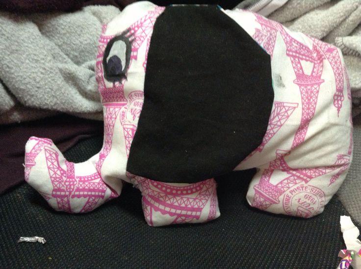Elephant heat pack I made