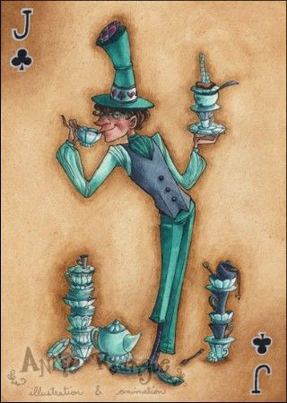 """""""The Mad Hatter--Jack of Clubs"""" by Annie Rodrigue"""