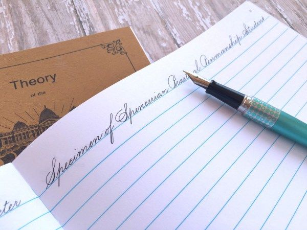 How I Improved My Handwriting: Spencerian Penmanship| pageflutter.com | Spencerian cursive is a lovely and practical penmanship program for journaling and handwritten letters.