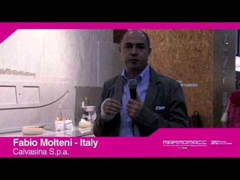 Marmomacc 2012: Fabio Molteni interview (Calvasina S.p.a., Italy)