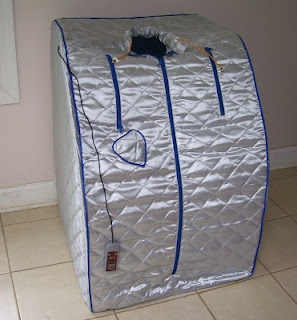 Cheap Infrared Sauna for pain reduction...wonder if this really works