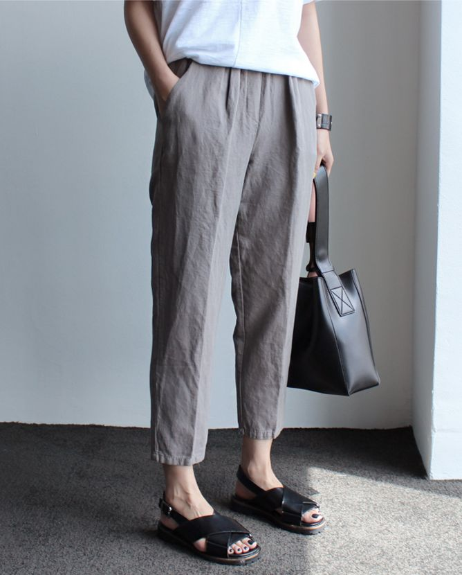 Rumpled   Linen Trousers   Death by Elocution