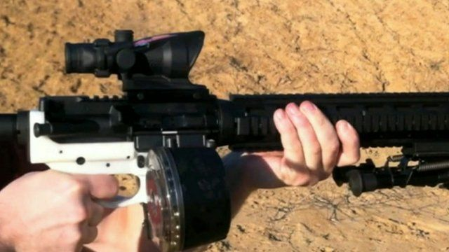 Gun parts made on 3D printer