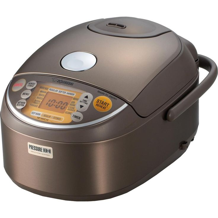 Induction Heating Pressure Rice Cooker and Warmer, Stainless Brown