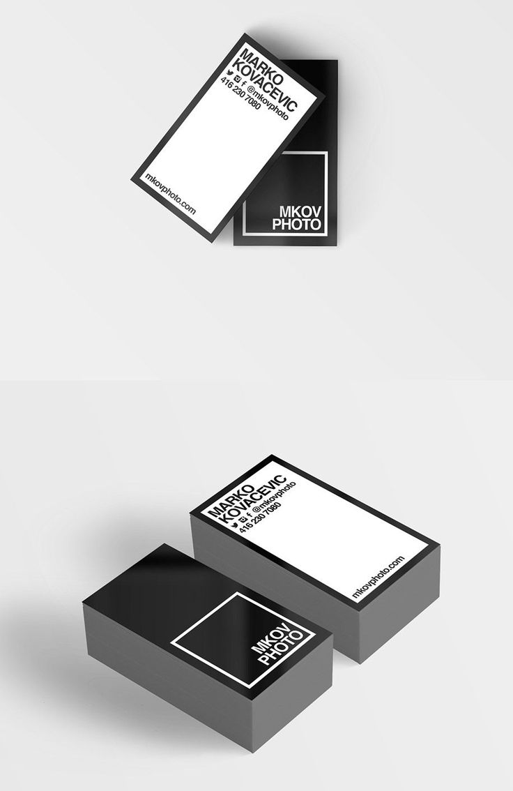 monochromatic business card