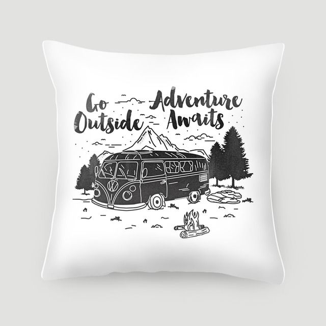 Pillow 40x40 cm (with insert) | Go Outside by Kevin Arya | Made from canvas linen, stuffed with dacron fill, and finished with concealed zipper. Pillow covers are available on their own or with pillow filling. #pillows #cushions #arts #prints #etsy #artwork #gift #design #home #decor #love #interior #trends #unique #photography #ideas #photo #inspiration #diy