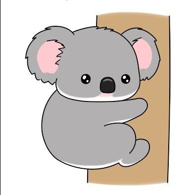 How to draw a cute cartoon koala by How2DrawAnimals. # ...