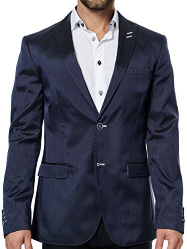 Mens Designer Blazer - Night Out Stylish Sportswear - Blue Color - Tailored Fit.