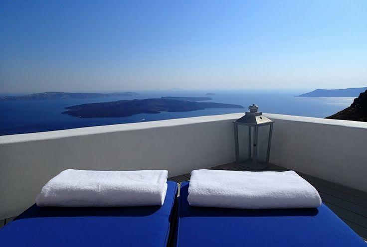 Caldera Suite private deck...