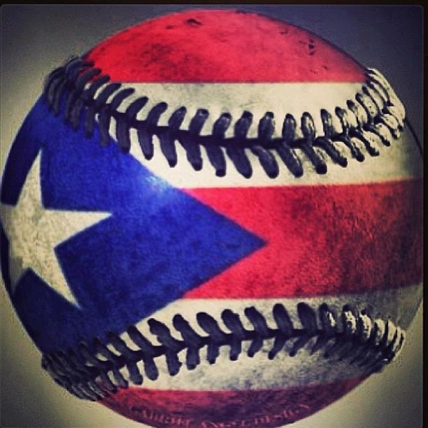 #1 Puerto Rican baseball fan lets go red white and blue.