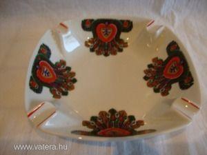 Hollóházi porcelán Hungarotex hamutartó tál