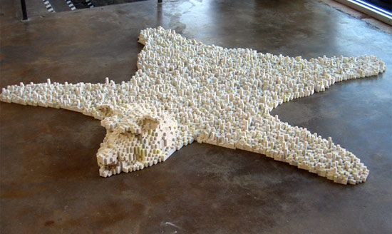 Put this #Lego bear rug between you and your alarm. If that doesn't get your attention and wake you up...You Might Be A Zombie! LOL