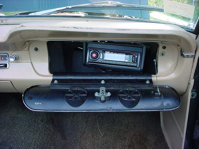 Car Audio Headunit In The Glovebox Single Din Radio