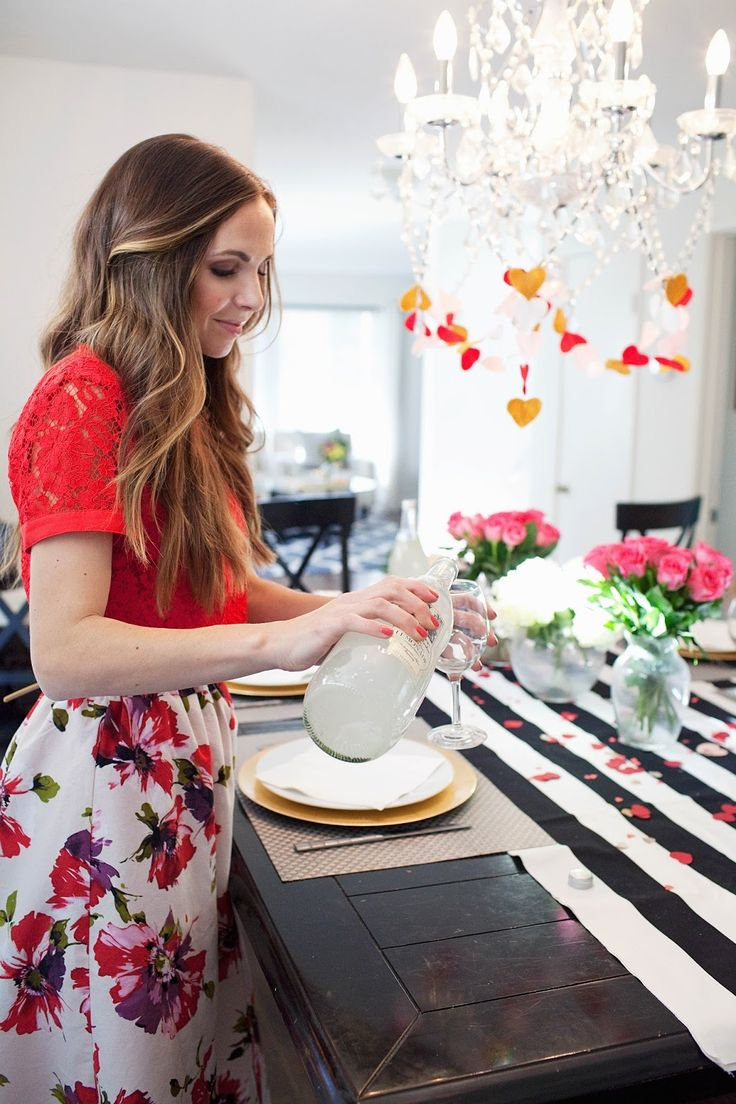 5 TIPS FOR THROWING A VALENTINE'S DAY PARTY + A FLORAL MIDI SKIRT TUTORIAL