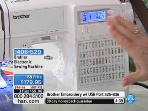 Brother Electronic Sewing Machine - YouTube