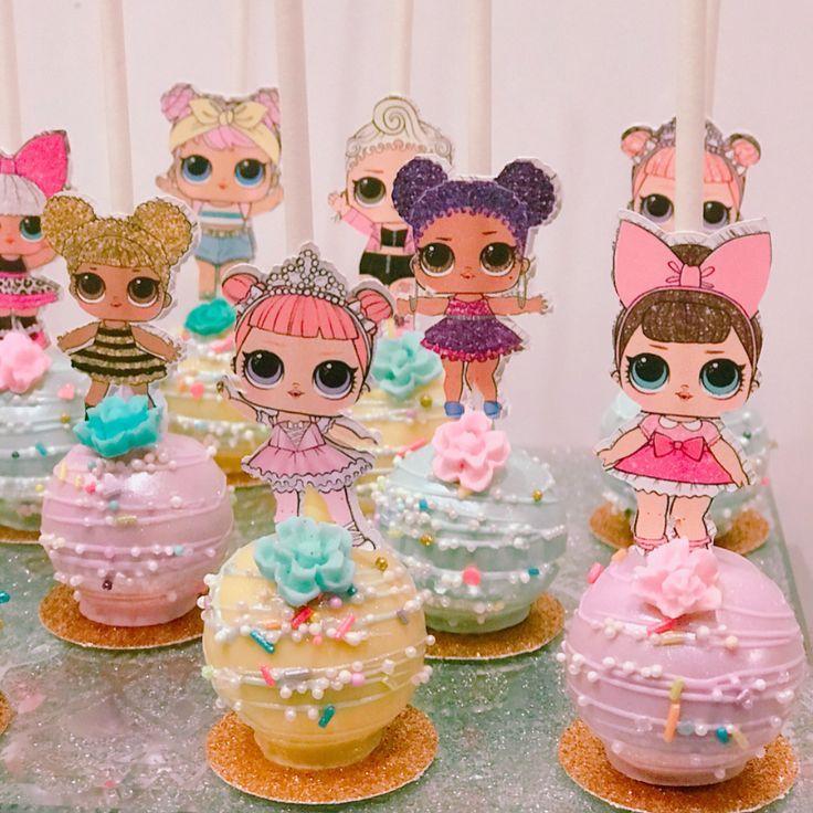 Excellent Lol Surprise Cakepop Favors Happy 8Th Birthday Olivia Funny Birthday Cards Online Alyptdamsfinfo
