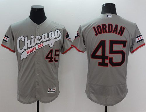 549a020ee6d4 ... white sox 45 michael jordan grey flexbase authentic collection  cooperstown stitched mlb jersey
