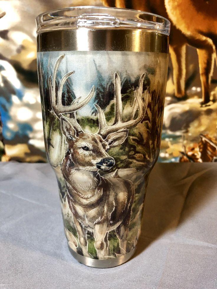Deer Scene 30 Oz Stainless Steel Tumbler By Savvybysusan