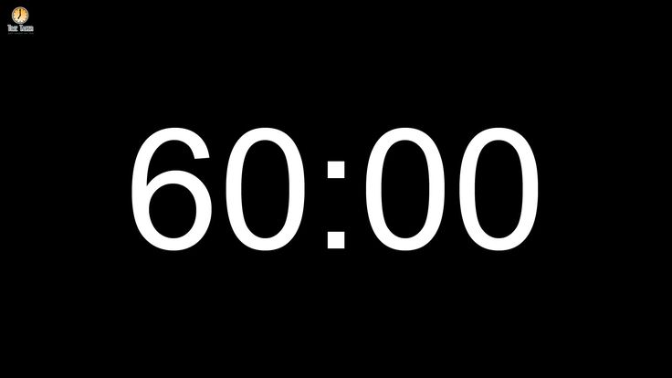 60 minute Countdown timer (with alarm)