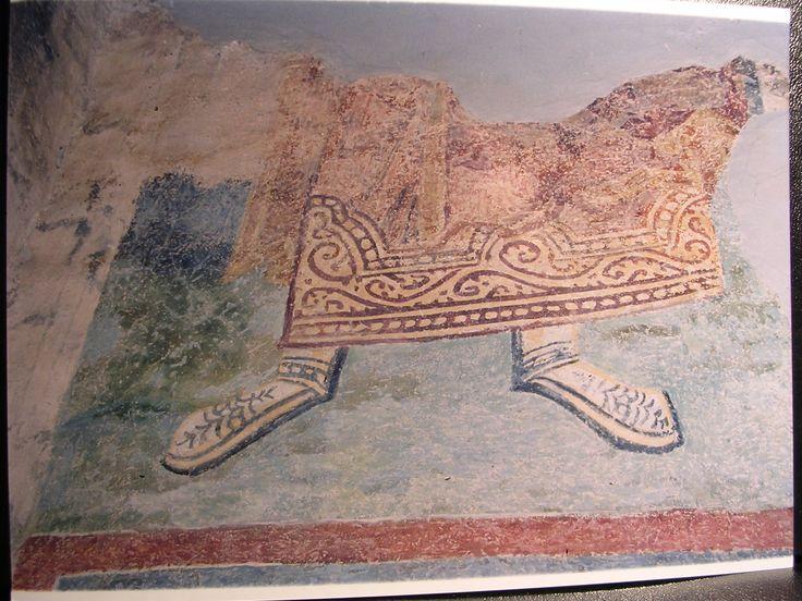 12th century wall-painting from a Byzantine monastery St.Pantaleon, Gorno Nerezi, Macedonia.