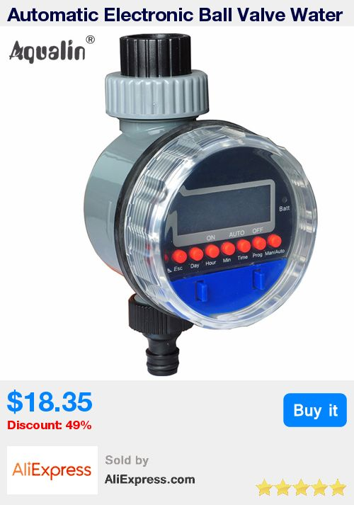 Automatic Electronic Ball Valve Water Timer Home Garden Irrigation Controller with  LCD Display #21026A * Pub Date: 21:09 Jul 10 2017