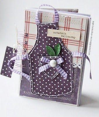Cute homemade cookbook idea.