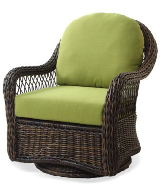 Delightful Windemere Wicker Patio Furniture, Outdoor Swivel Chair