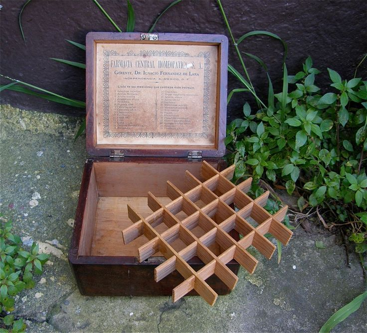 HOMEOPATHIC BOX for 36 REMEDIES Removable Divider Farmacia List of Remedies Central Homeopatica Dr Ignacio Fernandez de Lara Mexico 1920's by OnceUpnTym on Etsy