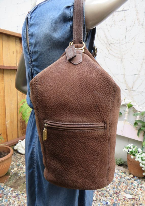 Vintage Coach Sonoma Flat Pack Bag Pebbled Leather by Cucarachaz