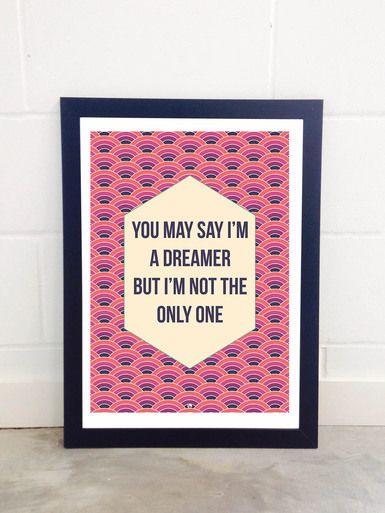 Imagine by Fimbis  #quote #quotation #inspire #wallart #inspiration #purple #fashion #digitalart #inspirational #quotes #positive #postivity #interiordesign #homedecor #pink #dreamer