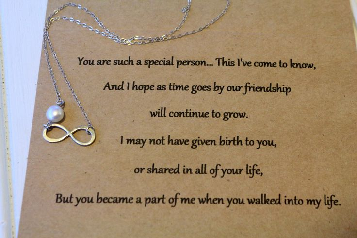 Step Daughter Infinity Necklace with Card