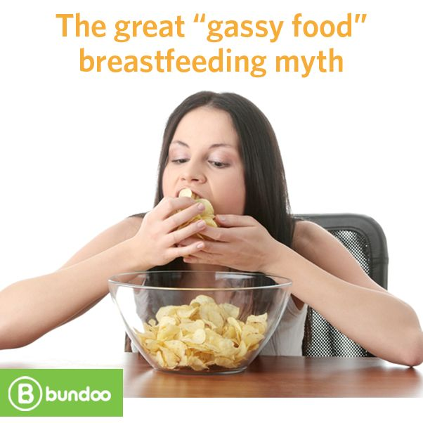"""Avoid citrus fruits! Don't eat spicy foods! Everyone has an opinion when it comes to calming a fussy breastfed baby, but Dr. Jen's advice regarding the great """"gassy food"""" breastfeeding myth may surprise you. Read more."""
