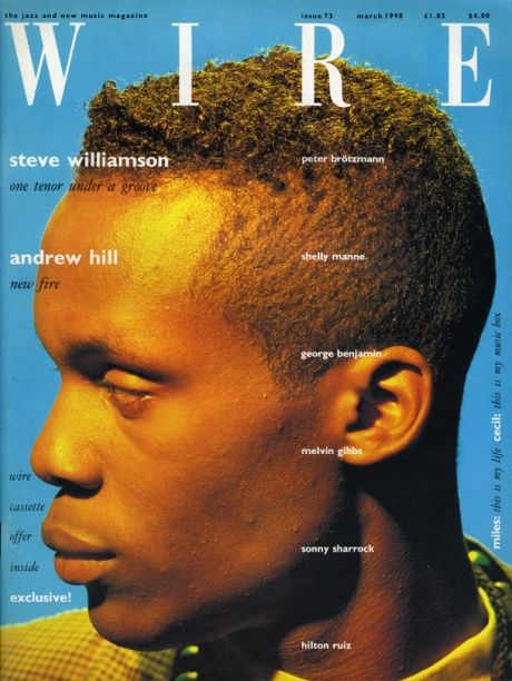 Wire, March 1990. Art director: Lucy Ward. See more Wire covers from 1987-90: http://www.robertnewman.com/the-elegant-jazz-covers-of-wire-magazine-1987-90/