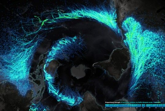 Stunning Map Details Every Hurricane and Tropical Storm for the Past 150 Years