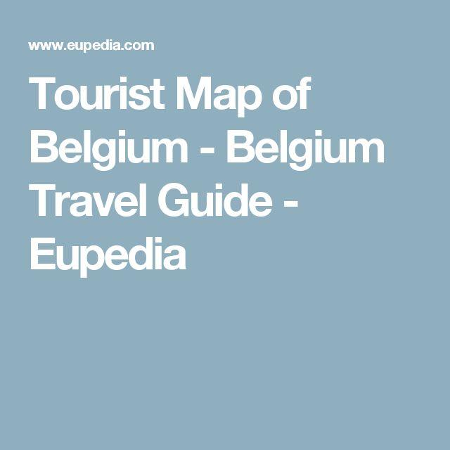 Tourist Map of Belgium - Belgium Travel Guide - Eupedia