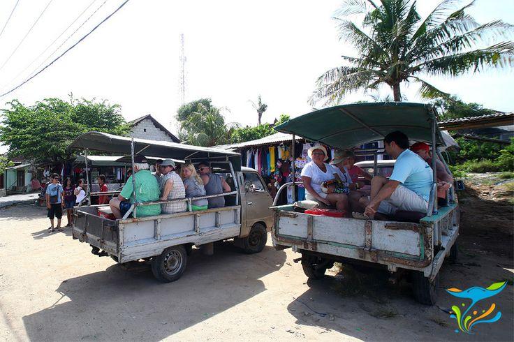 Inilah transportasi wisata di Nusa Lembongan. Biarpun anda menginap di hotel paling mewah bahkan villa pribadi sekalipun, kalau mau jalan-jalan, ya ini kendaraannya.