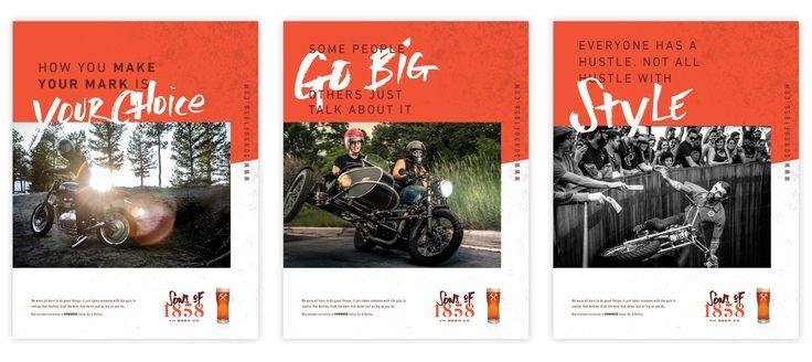 Craft beer advertising and marketing by Vigor http://vigorbranding.com/portfolio/sons-of-1858-craft-beer-branding/