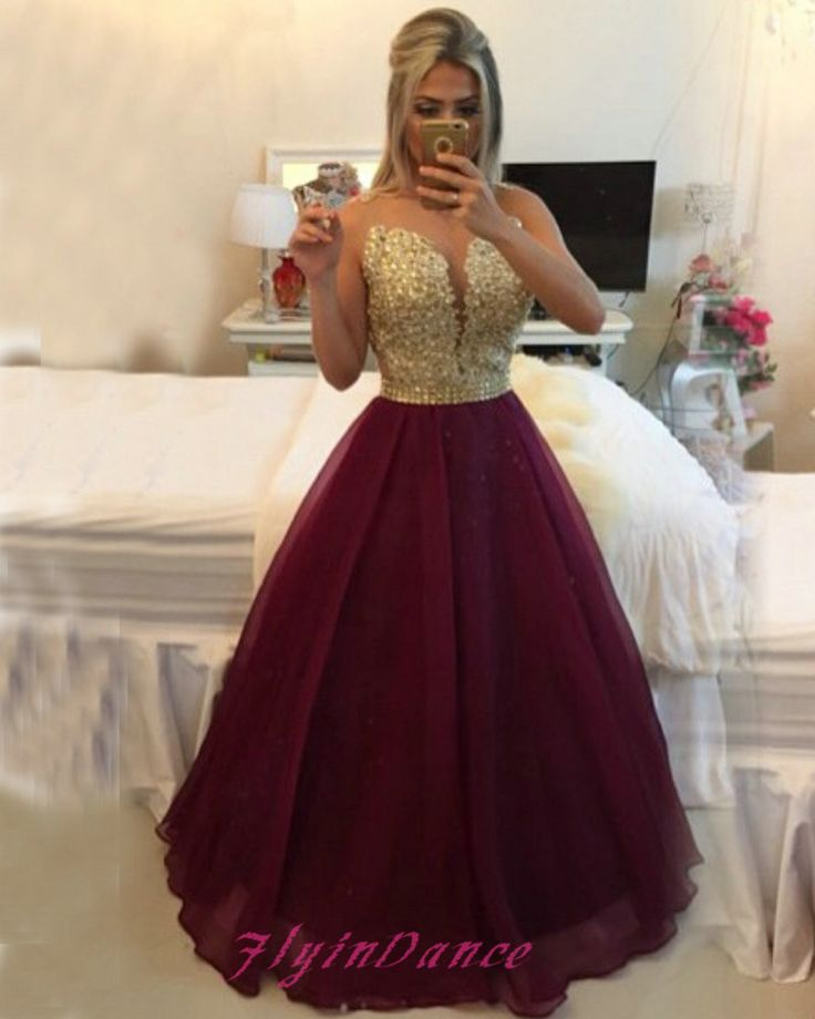 Red And Gold Evening Dresses Fashion Dresses - Burgundy And Gold Wedding Dress