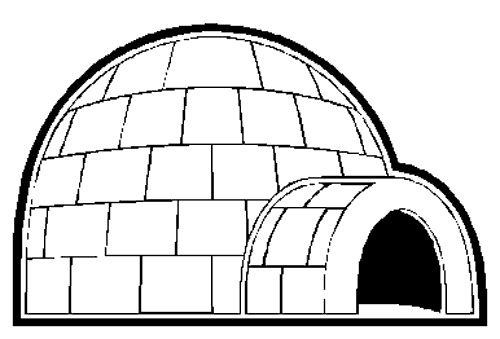 igloo template for preschool