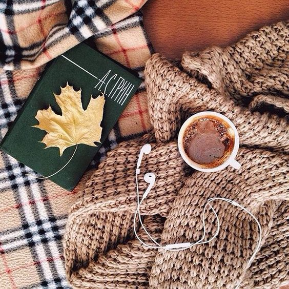 Books, blankets, and a warm drink are all you need