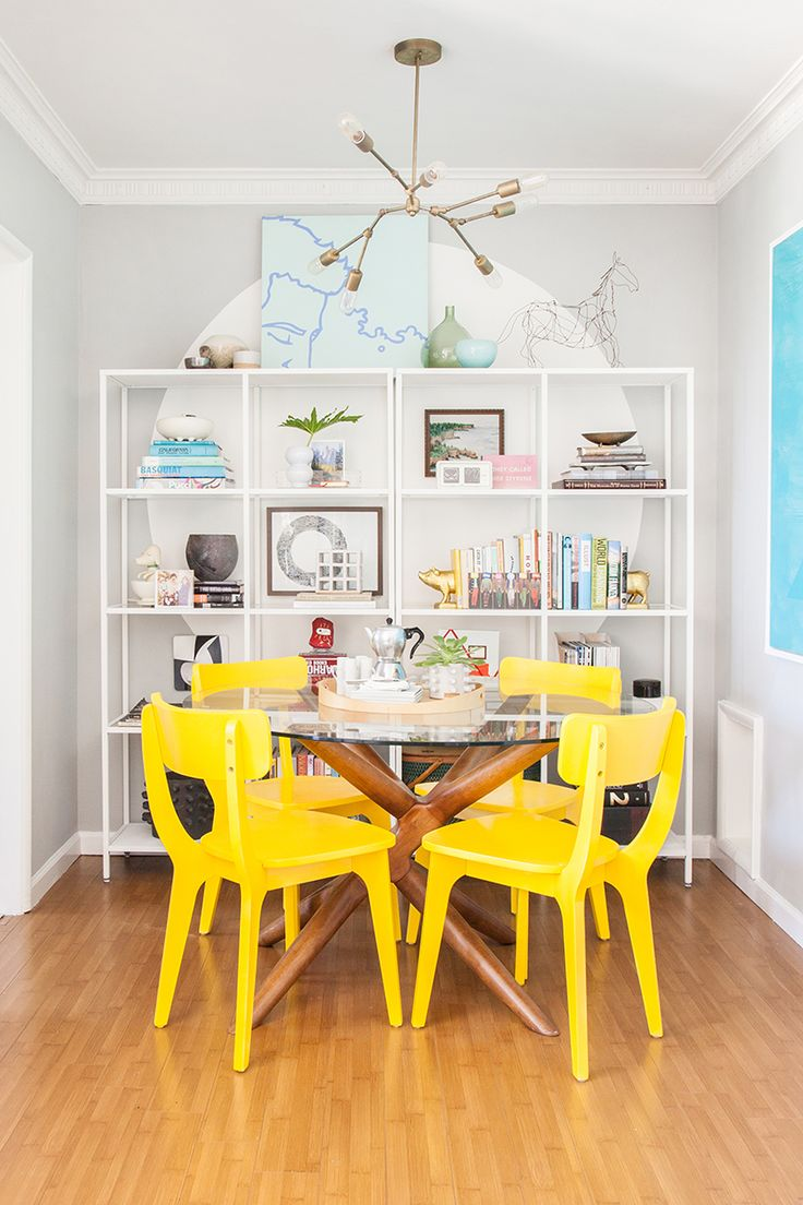 Bright dining room colors - Style By Emily Henderson Makeover By Orlando Soria Dining Room Comes Full Circle
