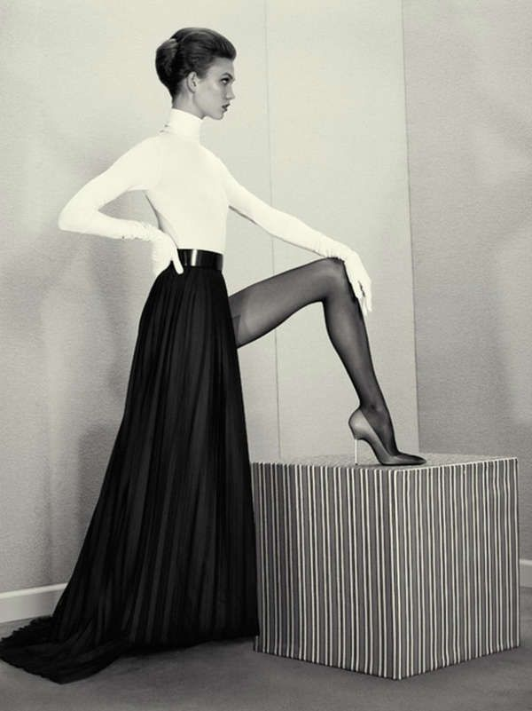 Sophisticated Sepia Photoshoots - The Acne Paper No. 14 Editorial Stars a Vintage Karlie Kloss (GALLERY)
