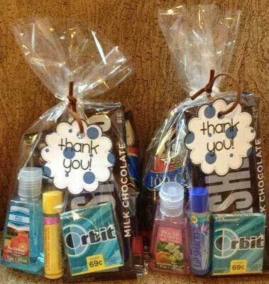 Gift bags for your nurses after giving birth. Cute idea.