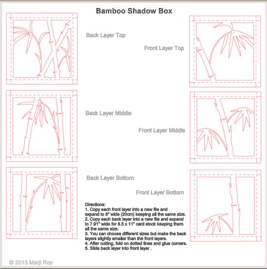 ashbee design silhouette projects 3 d bamboo shadow box silhouette tutorial papercut. Black Bedroom Furniture Sets. Home Design Ideas