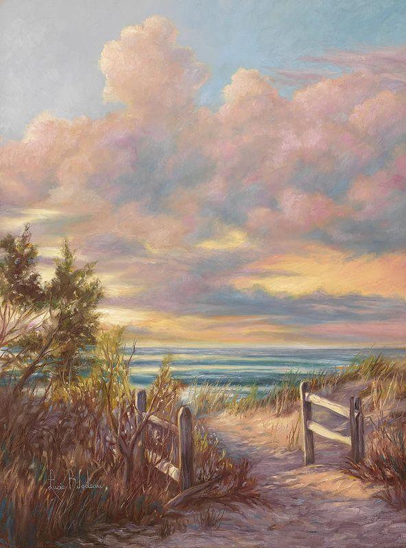 Beach Walk Poster by Lucie Bilodeau